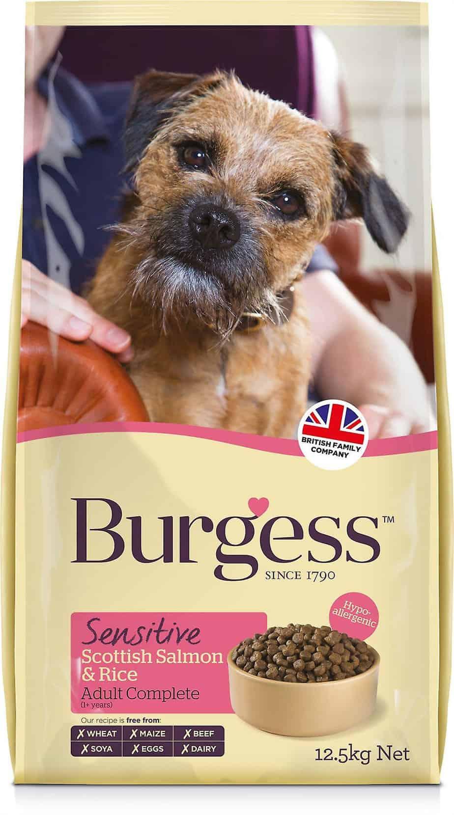 Burgess SENSITIVE Adult Laks/ris 12,5kg