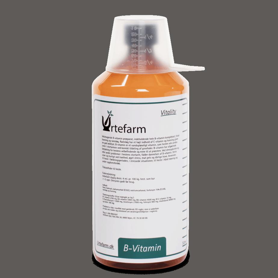 B VIT SUPLY tilskud af B-vitamin til heste