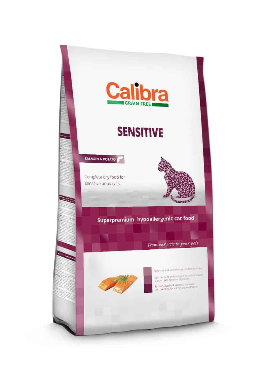 Calibra Cat Grain Free Sensitive / Laks og kartoffel