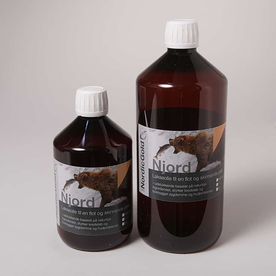 Njord - koldpresset lakseolie med Omega 3, 6 & 9 fedtsyrer til hunde